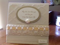 Kaseycreations, baby card, Stampin up (would be a nice wedding card)