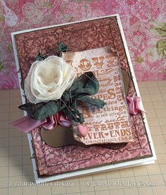 Shabby chic card by Janelle