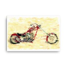 Harley Davidson custom chopper by Vart - art giclee on canvas. Looking to add a little flair to your room or office? Look no further - this canvas giclee art print has a vivid, fade-resistant print that you're bound to fall in love with. Custom Cycles, Custom Bikes, Custom Street Glide, Custom Baggers, Big Wheel, Chopper, Maya, Harley Davidson, Cool Art