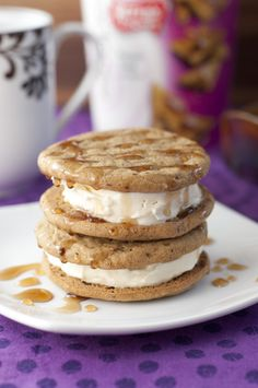 Coffee French Toast Ice Cream Sandwiches | Wishes and Dishes