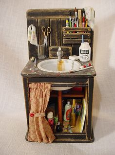 """Doctor Pretend play cabinet for """"play doctor"""" tools"""