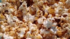 This will be an instant family hit; a bowl of the pop corn is so good it won't last a whole movie. Yummy Snacks, Yummy Food, Fun Food, Tasty, Homemade Kettle Corn, Kettle Popcorn, Happy Cook, Candied Pecans, Popcorn Recipes