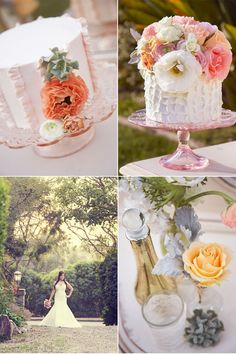 I love the ruffled wedding cake desin! flowers by Cherry Blossom Floral Designs, cakes by Hey There Cupcake! photos by Found Creative Studio