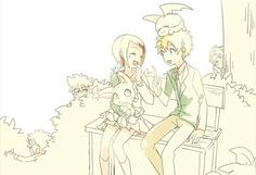 Taichi, Yamato and Daisuke stalking on the background XD