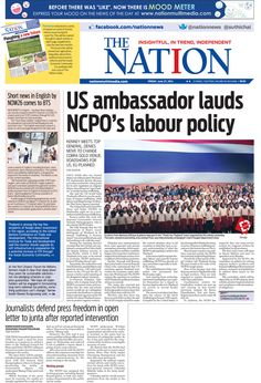 US ambassador lauds NCPO's labour policy -- The NATION Front Page, June 27, 2014