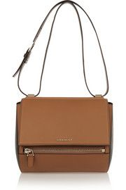 GivenchyMedium Pandora Box bag in tan and black leather
