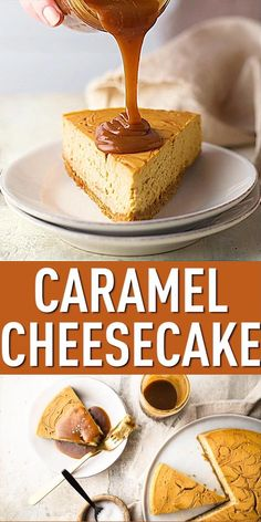 Salted Caramel Cheesecake: Caramel cheesecake filling, ribboned with salted caramel sauce. So fantastic! #caramel #caramelcheesecake #saltedcaramel #cheesecake #cheesecakerecipes #cheesecakerecipeseasy #caramelsauce #dessert #desserts #baking #bakingamoment Easy Cheesecake Recipes, Dessert Recipes, Salted Caramel Cheesecake, Fun Baking Recipes, Caramel Recipes, Dessert Bars, Christmas Desserts, Easter 2021, Foodies