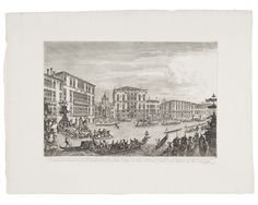 Michele Giovanni Marieschi (Italian, 1710–1743), The Regatta. Etching