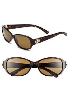 cbcae1977f Tory Burch 56mm Polarized Sunglasses available at  Nordstrom Stylish  Sunglasses
