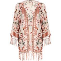 Light pink floral devore kimono For floating around at weddings this summer. Floral Kimono, Kimono Top, Kimono Cardigan, Kimono Fashion, Fashion Outfits, Women's Fashion, River Island Fashion, 2014 Fashion Trends, Fashion Ideas