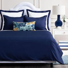 Blue Duvet Covers from Crane & Canopy. Keep your comforter and bedding safely protected in a simple single covering, adding warmth and comfort. Best Bedding Sets, Bedding Sets Online, Luxury Bedding Sets, Modern Bedding, Navy Blue Bedding, Navy Duvet, Bedding Master Bedroom, Master Bedrooms, Dream Bedroom