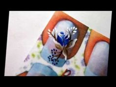 Botão com pétalas em carga dupla Graffiti Nails, One Stroke, Art Techniques, Nails Inspiration, Heart Ring, Manicure, Nail Art, Flowers, Painting