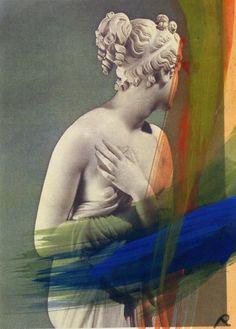 inthemoodtodissolveinthesky:  Arnulf Rainer, Donna che si copre, 2001