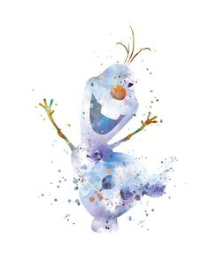 Olaf Print Olaf Watercolor Nursery Printable Art Frozen Poster