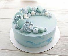 Pretty Cakes, Cute Cakes, Yummy Cakes, Cake Decorating Techniques, Cake Decorating Tips, Bolo Cake, Cute Birthday Cakes, Gift Cake, Birthday Cake Decorating