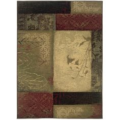 Oriental Weavers of America Bedford Multicolor Rectangular Indoor Woven Area Rug (Common: 5 x 8; Actual: 63-in W x 90-in L)