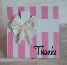 Thank You Notes Baby Shower 40 Pink Chunky by CardinalBoutique, $70.00