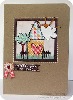 Paper piecing with Purple Onion stamps - Stephanie Ackerman New Home Cards, Layout Inspiration, Watercolor Cards, Creative Cards, Cute Cards, Paper Piecing, I Card, Scrapbook Layouts, Scrapbooking