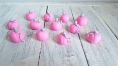 Pink Fairytale Customizable Pumpkin Cupcake Toppers by VanillaRoom