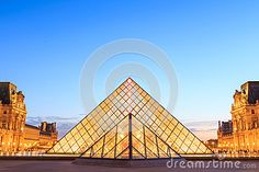 The Louvre Pyramid At Dusk During The Michelangelo Pistoletto Ex Editorial Photo - Image of exhibition, dusk: 59499786 Louvre Pyramid, Michelangelo, Dusk, Paris France, Vectors, Tourism, Editorial, Sign, Stock Photos