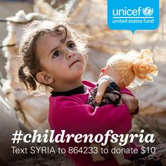Please REPIN: More than 4 million #ChildrenOfSyria are at risk as violence escalates. Help them now!