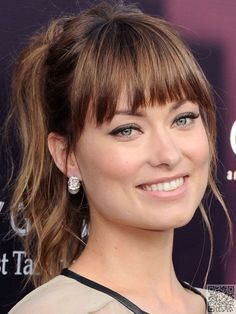 5. Olivia's #Choppy Bangs - Join the #Fringe Festival with #These 37 Styles for #Girls with Bangs ... → Hair #Swept