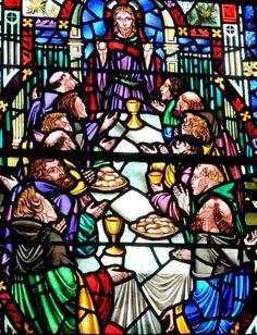 Christ Presbyterian Church window depicting the Last Supper.