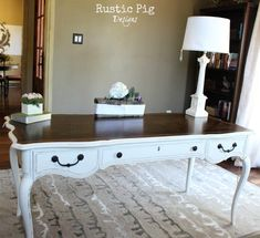 DIY::Antique French Desk Makeover ! This would be perfect for a vanity!
