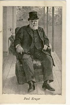 Boer war Postcard of Paul Kruger sitting in arm chair on stoep As per scan West Africa, South Africa, Family Research, Private Games, Free State, St Helena, Game Reserve, Family Crest, My Land