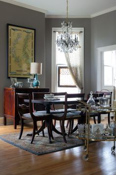Nest Decor Kenneth Byrd Design  A Barrage Of Picture Moldings Glamorous Charcoal Dining Room Decorating Inspiration