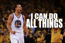 Basketball star Stephen Curry 12x18 inch Art Canvas Poster Print 11