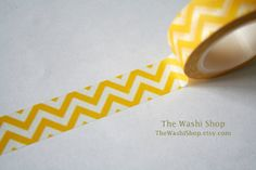 Yellow Chevron Washi Tape1 Roll by TheWashiShop on Etsy, $2.50