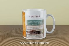 "Taza literaria ""La felicidad está en…"" – Sunday Morning Shop"