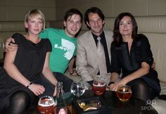 Franz Dinda, girlfriend Anja, Hans-Werner Meyer, Jacqueline Macaulay Hennessy Artistry Night at Felix club