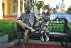 This iconic park bench in Town Square pays tribute to Roy Disney's legacy and impact on the creation of Walt Disney World. The same bench can be found in the Disney Legends plaza at the Walt Disney Studios in Burbank, California.