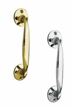 Available In Polished Brass /& Polished Chrome Fleur de lys Handle 100mm 175mm