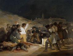 """""""El 3 de mayo en Madrid, o Los fusilamientos"""" (1814) - Francisco de Goya y Lucientes"""