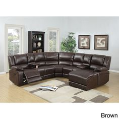 Shop a great selection of Brown Bonded Leather Reclining Sofa Set Includes Push-back Chaise. Find new offer and Similar products for Brown Bonded Leather Reclining Sofa Set Includes Push-back Chaise. Leather Reclining Sectional, Sectional Sofa With Recliner, Leather Sofa, Bonded Leather, Recliners, Couches, Corner Sectional, Leather Sectionals, Corner Couch
