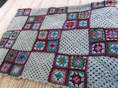 Hand Made Afghan Lap Blanket with Granny by ThePrincessofPutz, $20.00