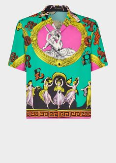 f6c6284d4418 VERSACE Amore e Psiche Print Shirt.  versace  cloth   Bowling Shirts,  Versace