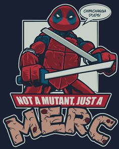 Teenage Merc Ninja Turtle T-Shirt Design — GeekTyrant