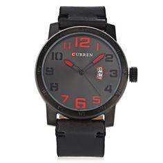 Curren 8254 Male Quartz Watch #jewelry, #women, #men, #hats, #watches, #belts