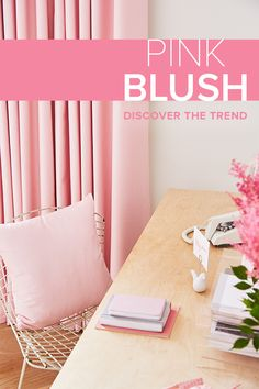 Who says your office has to be boring? Adding some pink to your home interior is always a good idea  Get inspo and find out more about our curtains, blinds and shutters from a Hillarys advisor today.