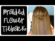 A beautiful Braided Flower Tieback!  {with a 5-minute video tutorial and more photos}  #Braids #Hairstyles #BraidedFlower