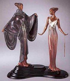 Erte (Romain de Tirtoff) - Dreambirds Bronze Sculpture