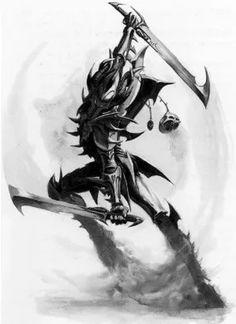 Update: I've been getting a lot of requests to sell copies of Drazhar via Shapeways. Drazhar is very… Warhammer 40k Dark Eldar, Eldar 40k, Warhammer Art, Warhammer 40000, Warhammer Fantasy, Dark Elf, Fantasy Warrior, Space Marine, Fantasy Artwork