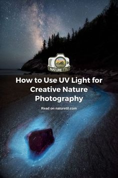 In this landscape and macro photography tutorial, learn how to use ultraviolet-induced visible fluorescence to create otherworldly images. Macro Photography Tips, Photography Courses, Underwater Photography, Photography Tutorials, Landscape Photography, Nature Photography, Light Leak, Multiple Exposure, Close Up Photos