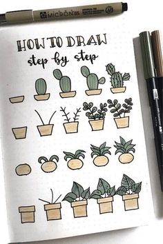 20 Best Succulent & Cactus Doodle Ideas for Bujo Addicts - Bullet Journ . - 20 best succulent & cactus doodle ideas for bujo addicts – bullet journal 20 best suc - Bullet Journal Headers, Bullet Journal Banner, Bullet Journal Writing, Bullet Journal Notebook, Bullet Journal Ideas Pages, Bullet Journal Inspiration, Art Journal Pages, Doodle Art Journals, Doodling Journal