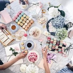 Springtime tea time #ladureeus #laduree #teatime #macaron