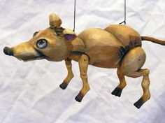 Ratte , marionette puppe